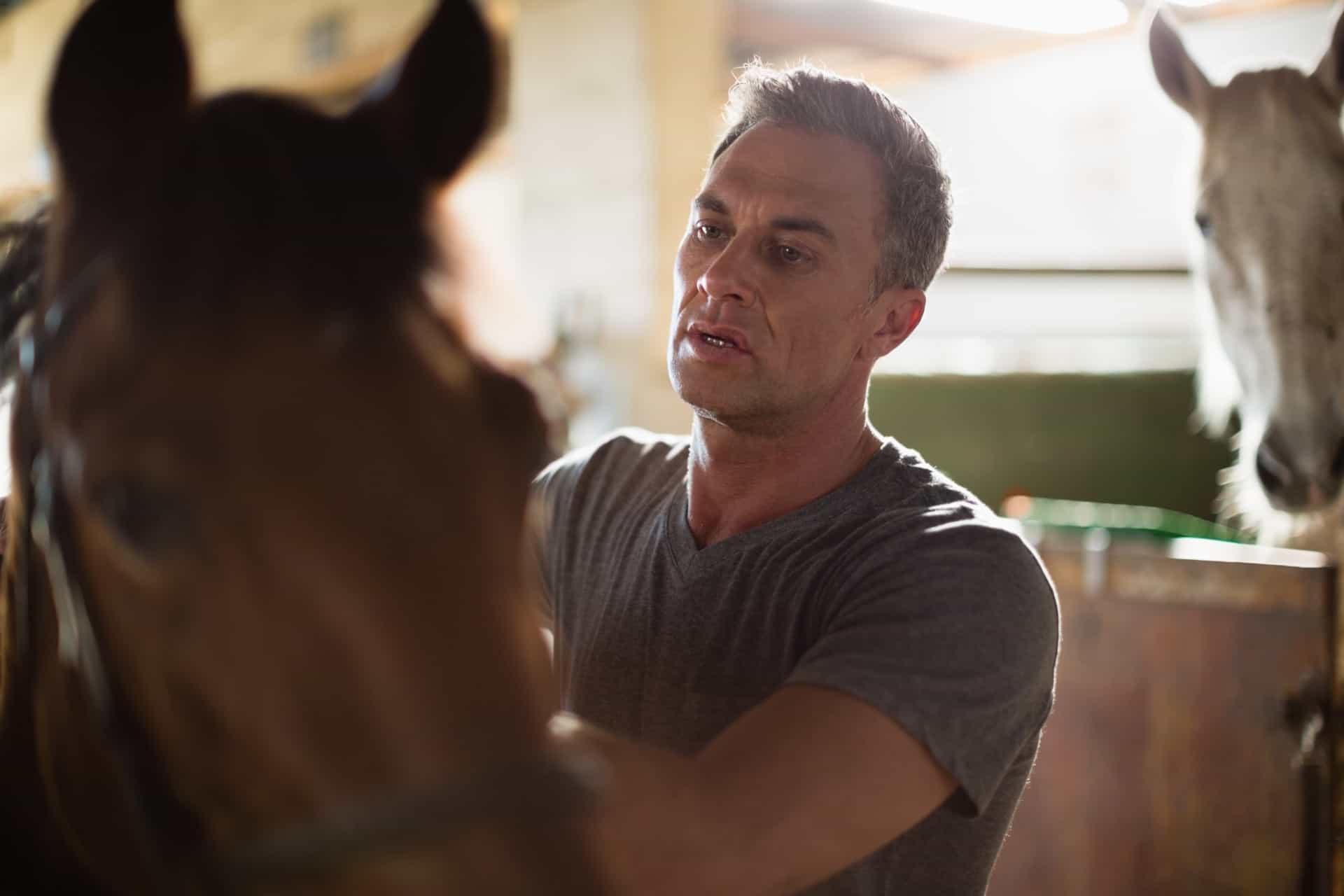 veteran with horse